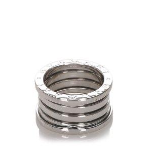 Bulgari Ring silver-colored real gold