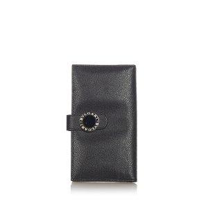 Bvlgari Bi-fold Leather Long Wallet