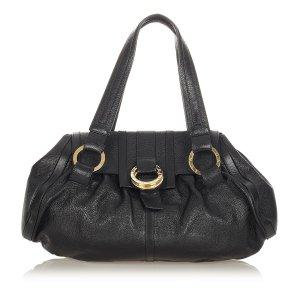 Bvlgari Chandra Leather Shoulder Bag