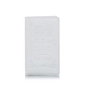 Bulgari Porte-cartes blanc cuir