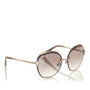 Bvlgari Embellished Shield Sunglasses
