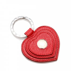 Bvlgari Heart Leather Key Chain
