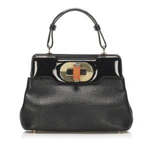 Bvlgari Isabella Rossellini Leather Handbag