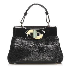 Bvlgari Isabella Rossellini Patent Leather Handbag