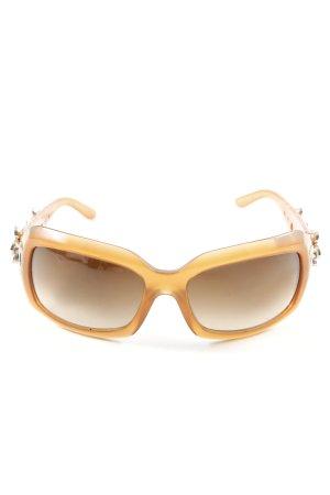 Bvlgari Occhiale squadrato arancione chiaro stile casual