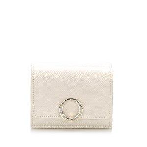 Bulgari Wallet beige leather