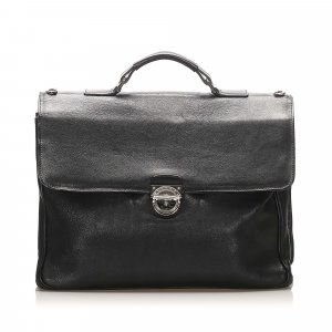 Bvlgari Leather Business Bag