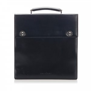 Bulgari Business Bag black leather