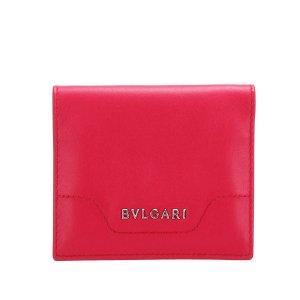 Bulgari Card Case red leather