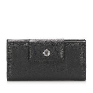 Bulgari Wallet black leather