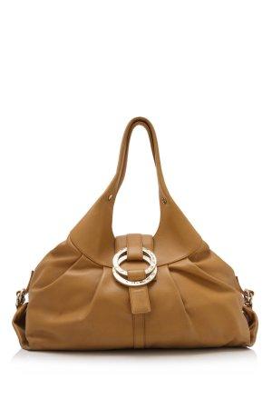 Bulgari Shoulder Bag brown leather