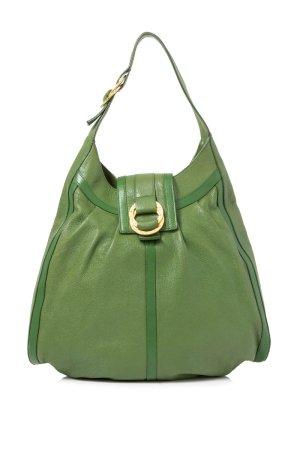 Bulgari Shoulder Bag green leather