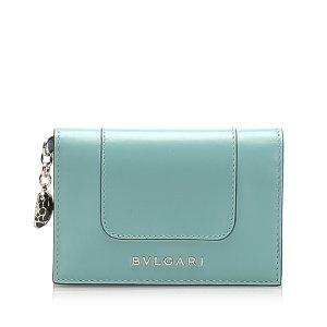 Bulgari Wallet blue leather