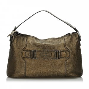 Bulgari Tote gold-colored leather