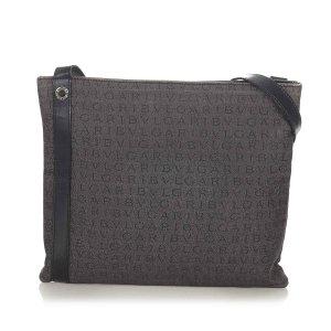 Bvlgari Logomania Canvas Crossbody Bag
