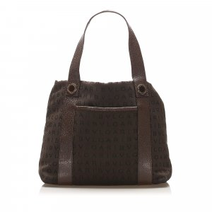 Bvlgari Logomania Canvas Handbag