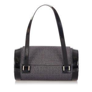 Bvlgari Logomania Denim Shoulder Bag