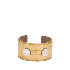 Bvlgari Ostrich Leather Cuff