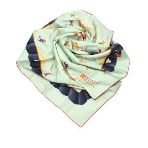 Bulgari Scarf pale green silk
