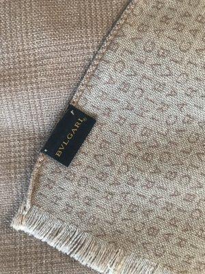 Bvlgari Écharpe en laine marron clair-beige