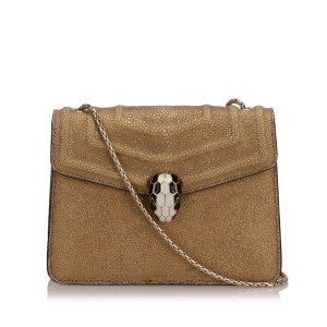 Bulgari Crossbody bag brown leather