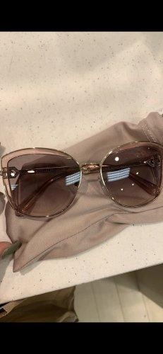 Bvlgari Angular Shaped Sunglasses rose-gold-coloured-gold-colored