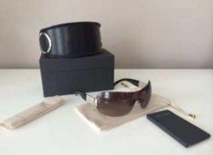 Bvlgari Sonnenbrille mit Kristallen - braun