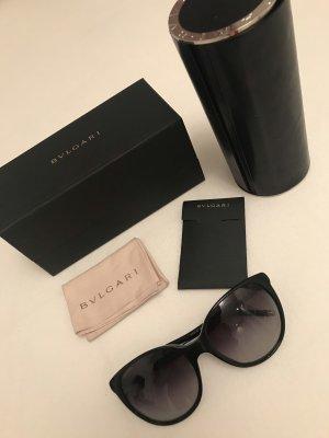Bvlgari Ovale zonnebril zwart