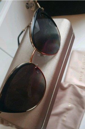 Bvlgari Gafas de sol ovaladas negro-color oro