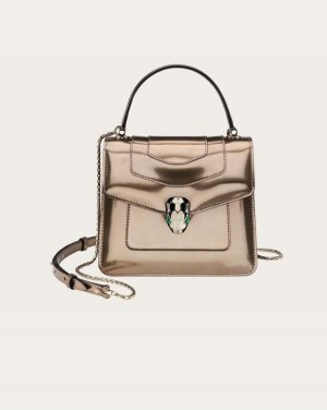 Bvlgari Shoulder Bag bronze-colored