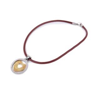 Bvlgari Tondo Heart Pendant Necklace