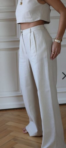 by Aylin Koenig Linen Pants natural white-oatmeal linen