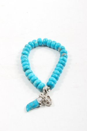 by Charmology Bracelet à breloques turquoise-argenté style décontracté