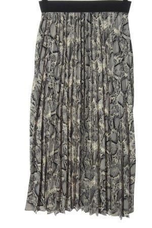 by clara Paris Pleated Skirt animal pattern casual look