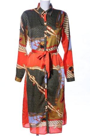 by clara Paris Shirtwaist dress abstract pattern elegant