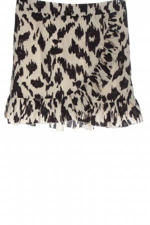 by clara Paris Miniskirt natural white-black abstract pattern casual look