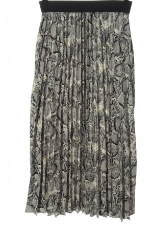 by clara Paris Pleated Skirt animal pattern casual look