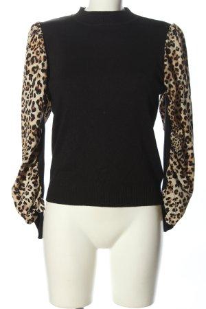 by clara Paris Knitted Sweater black-cream mixture fibre
