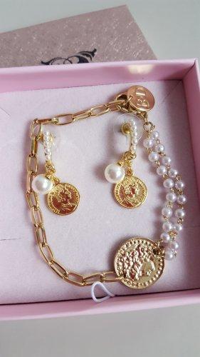 By Dziubeka ➡️Schmuck Set mit Münzen und Perlen