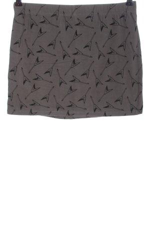 by EMP Spódnica mini jasnoszary-czarny Na całej powierzchni W stylu casual