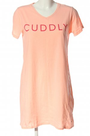 by louise Sukienka o kroju koszulki nude-czerwony Wydrukowane logo