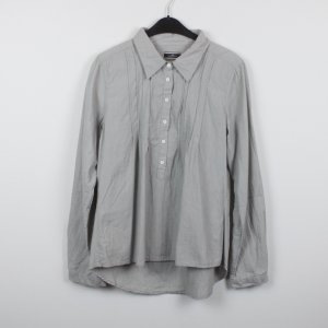 by Malene Birger Long Sleeve Blouse silver-colored cotton