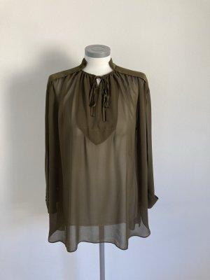 By Malene Birger Bluse Top Shirt oliv khaki grün 32 34 36 38 XS S M