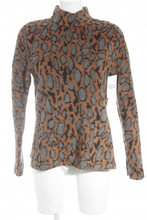 by Malene Birger Fleecepullover Leomuster Animal-Look