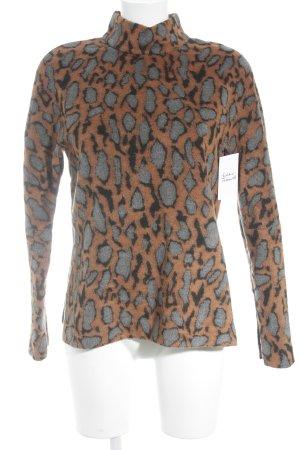 by Malene Birger Fleece Jumper leopard pattern