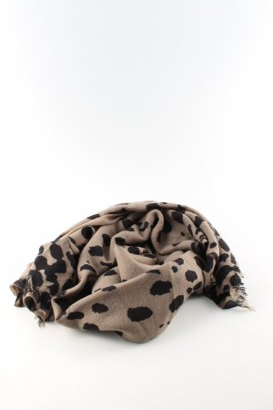 by Malene Birger Fringed Scarf brown-black leopard pattern casual look