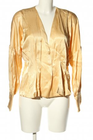 by Malene Birger Glanzbluse goldfarben Casual-Look