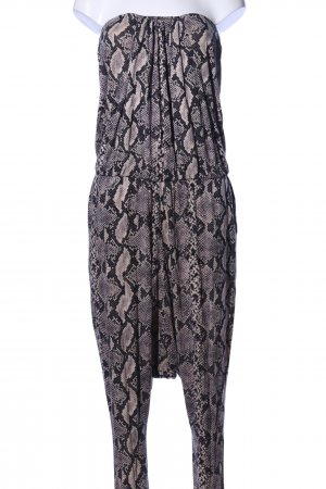 by Malene Birger Jumpsuit schwarz-wollweiß Allover-Druck extravaganter Stil