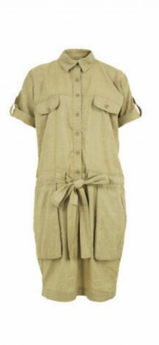 by Malene Birger Cargo Dress gold-colored linen