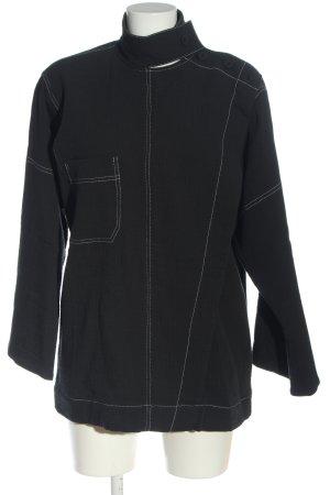 by Malene Birger Slip-over blouse zwart quilten patroon casual uitstraling
